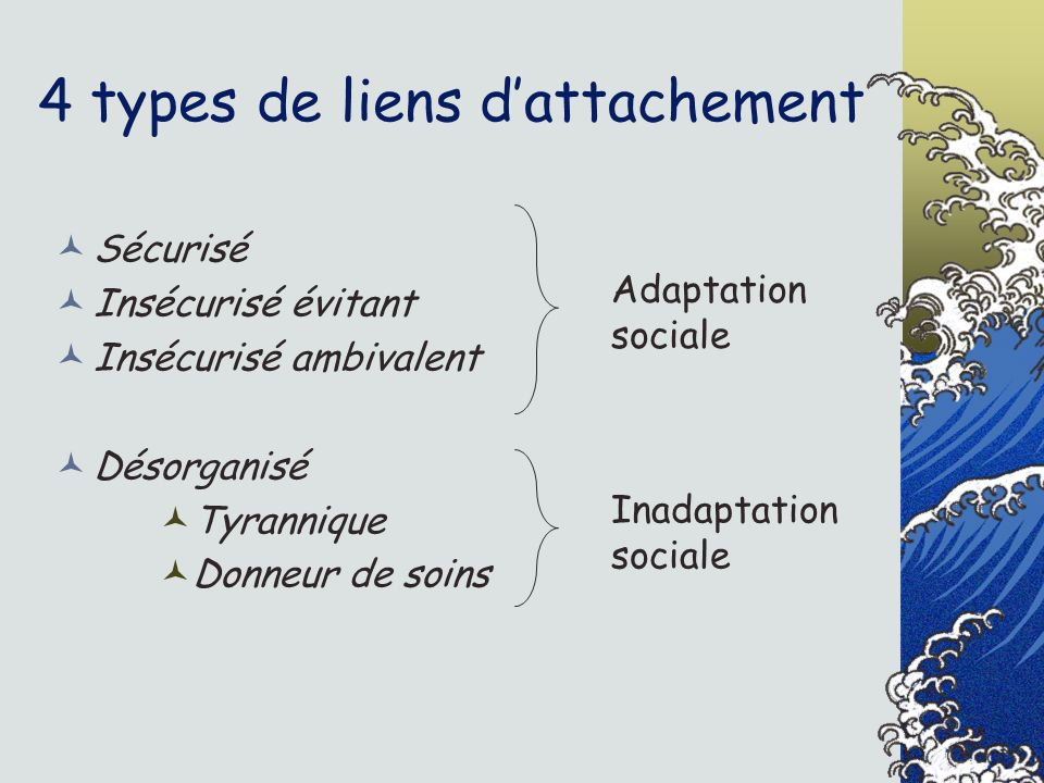 4 types de liens d'attachement