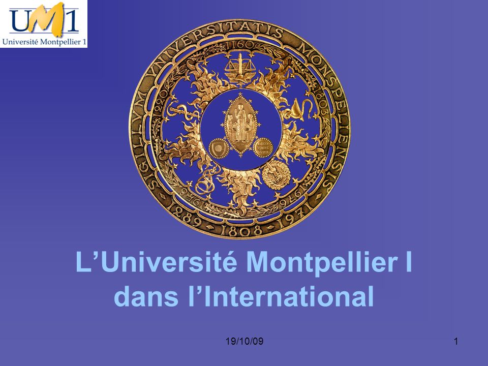 L'Université Montpellier I dans l'International
