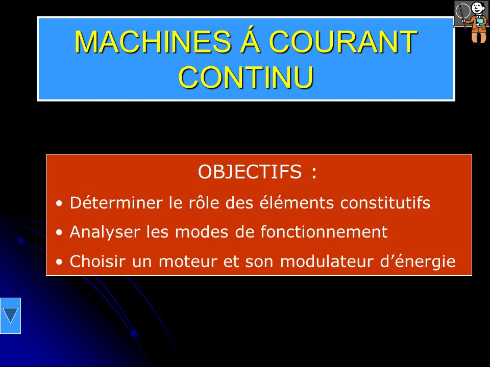 MACHINES Á COURANT CONTINU