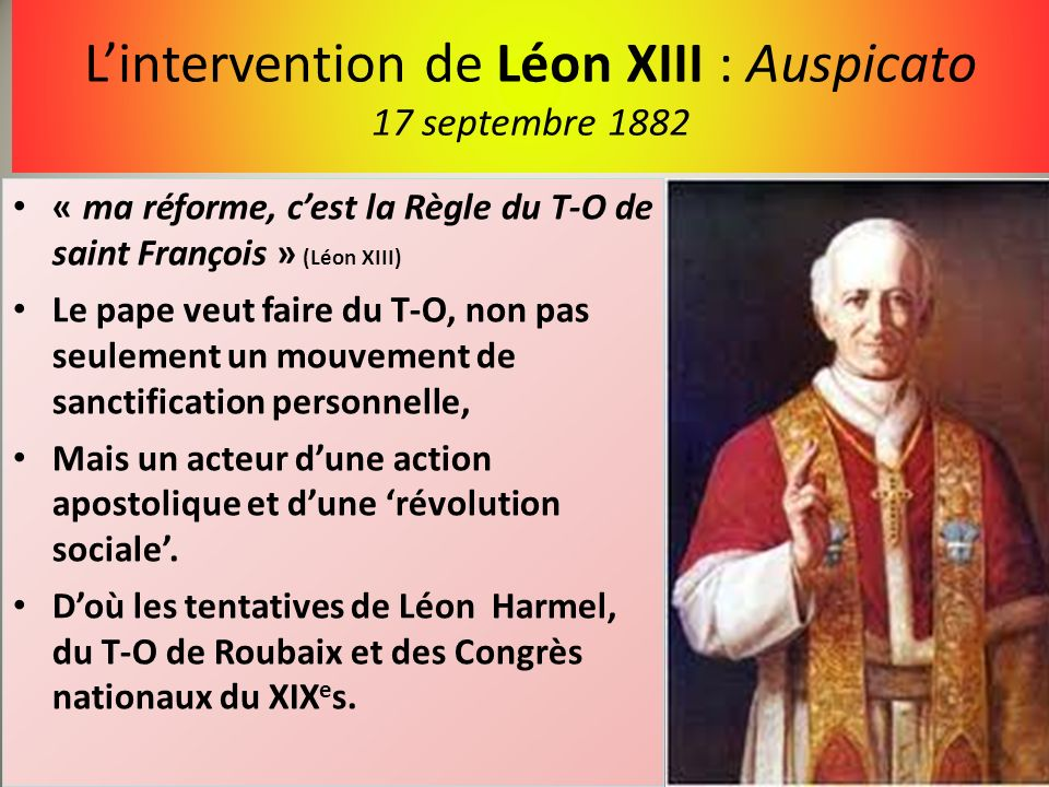 L'intervention de Léon XIII : Auspicato 17 septembre 1882