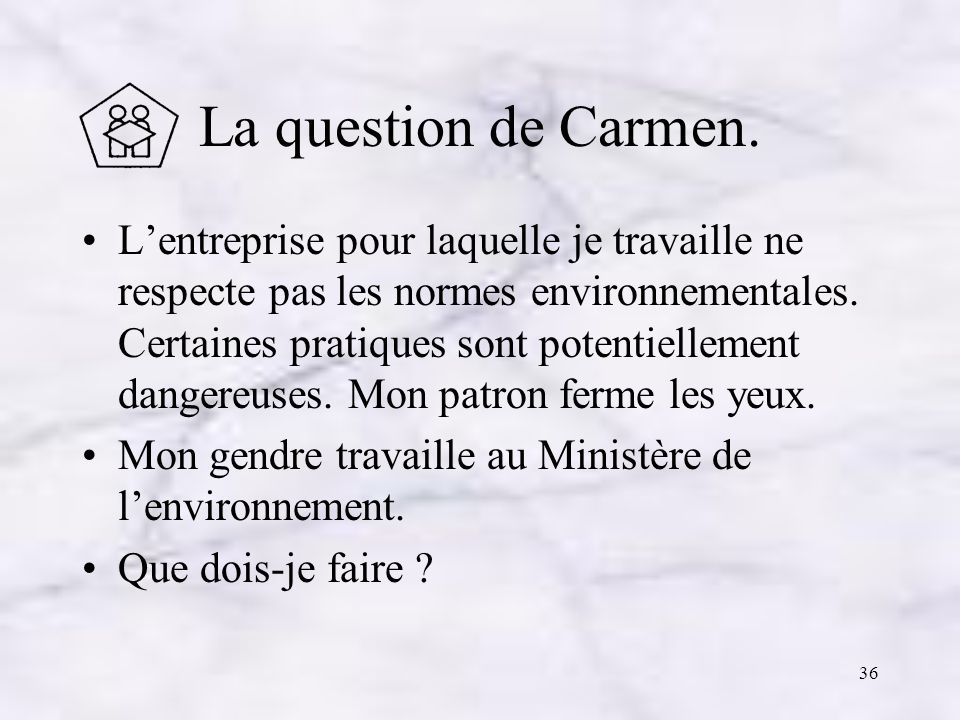 La question de Carmen.