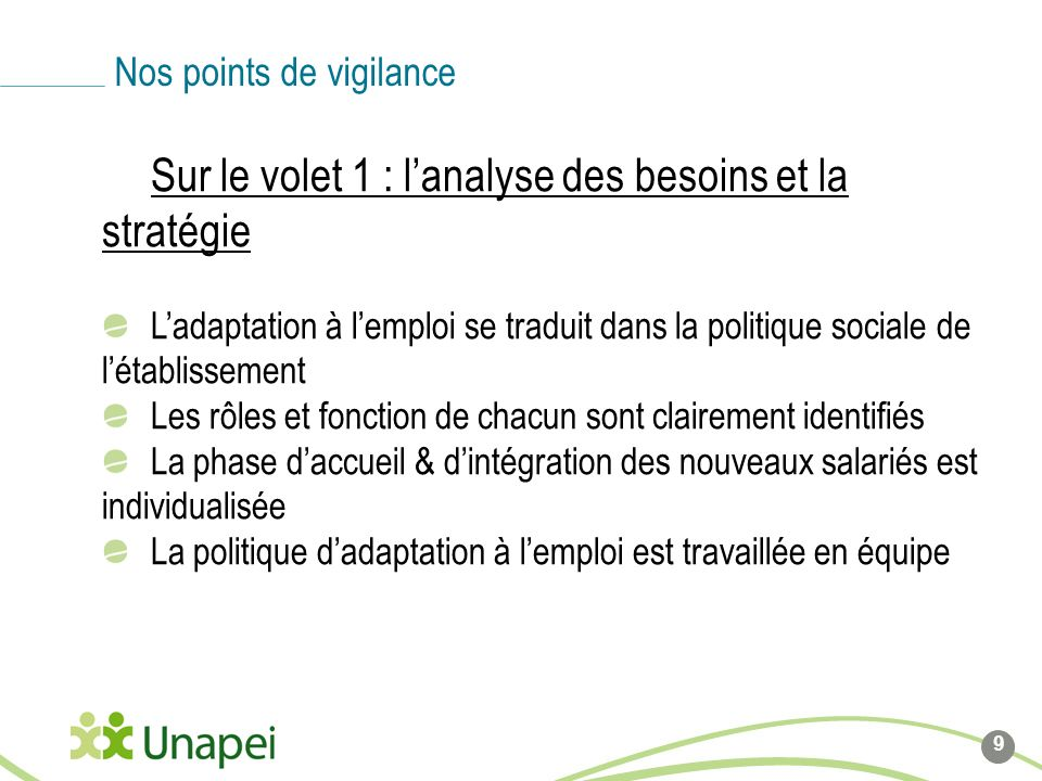 Nos points de vigilance