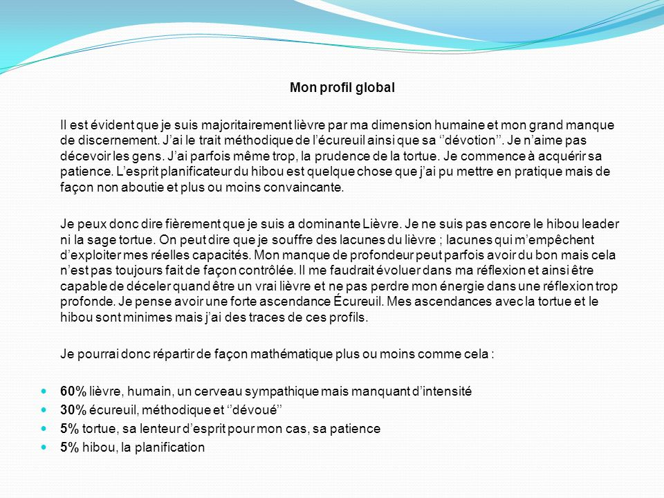 Mon profil global