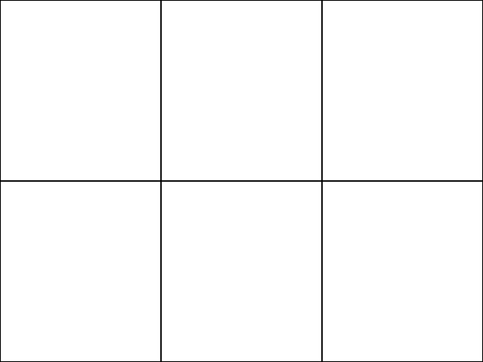 Students to be given a blank sheet of A4 paper and asked to fold it so that it has six 'boxes' of equal size. Into each one they are going to be asked to draw something in the following 6 categories: