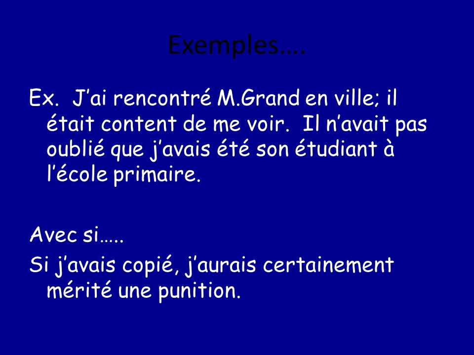 Exemples….