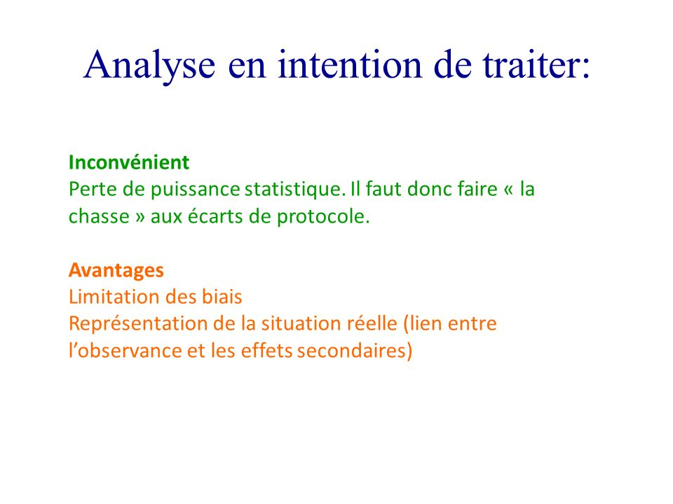 Analyse en intention de traiter: