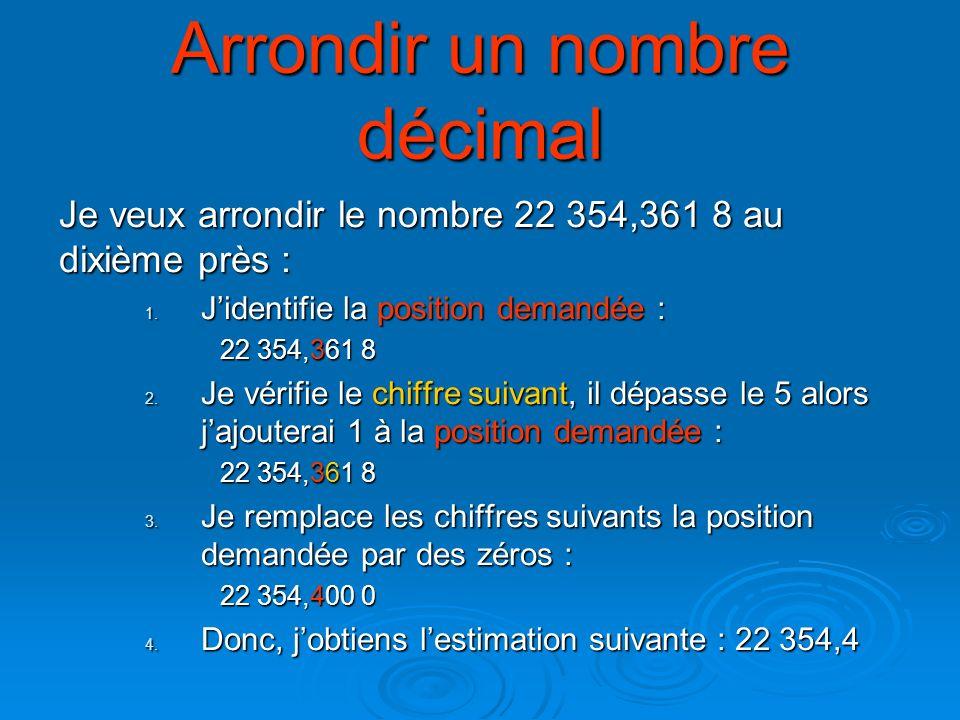 Lecture Et Arrondissement Des Nombres Decimaux Ppt Telecharger