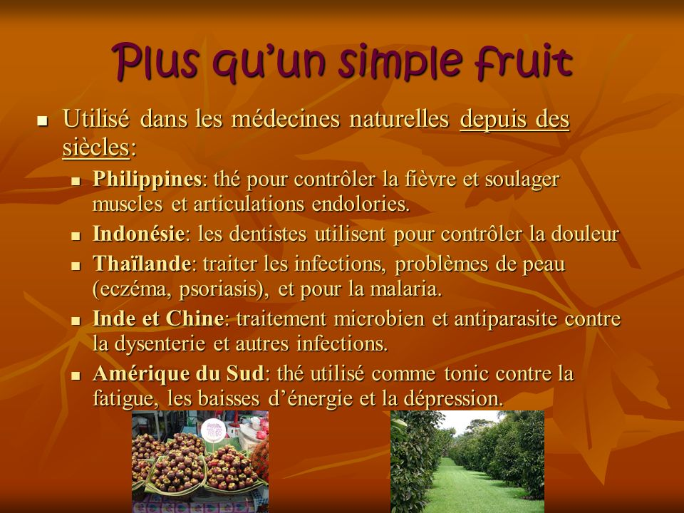 Plus qu'un simple fruit