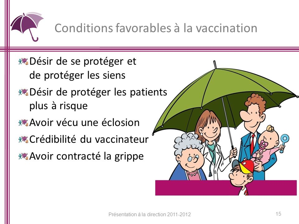 Conditions favorables à la vaccination