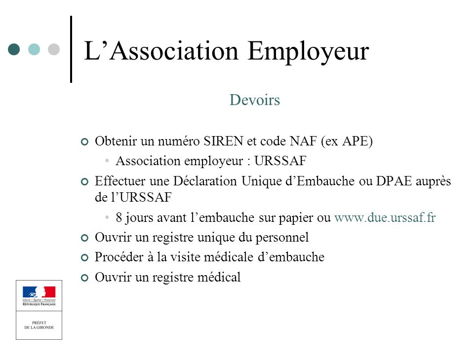 L'Association Employeur