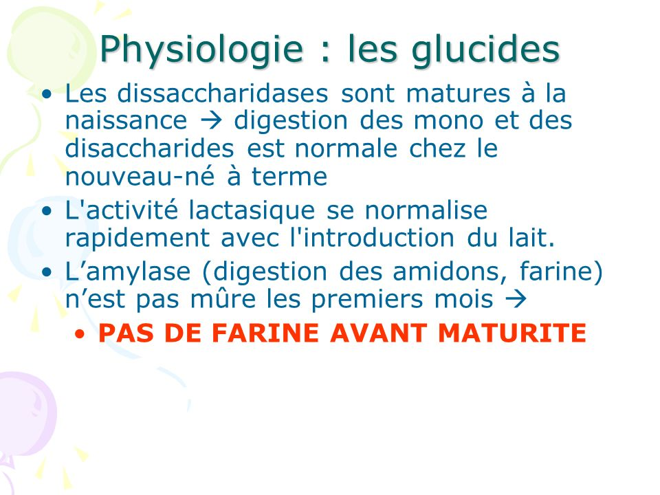 Physiologie : les glucides