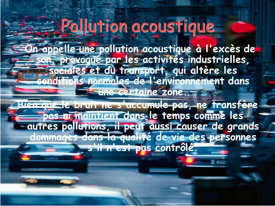 Pollution acoustique