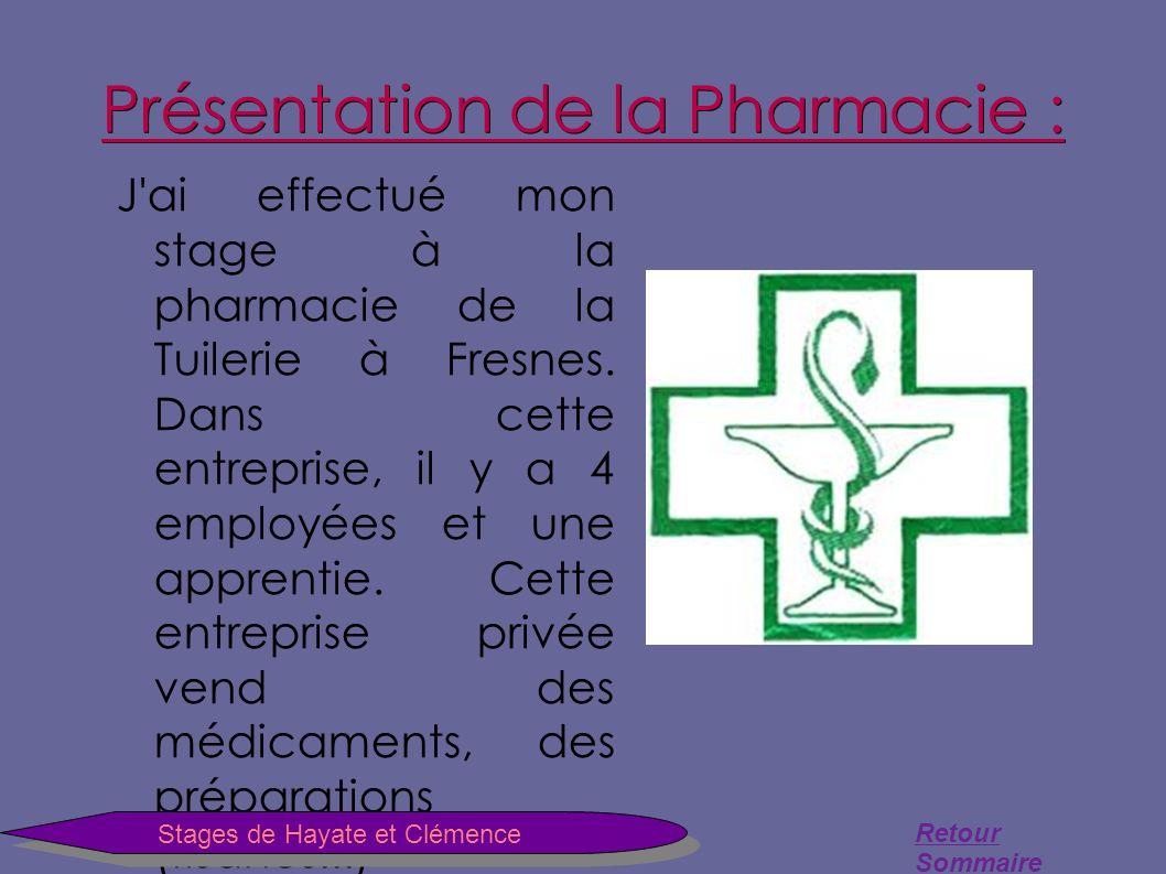 Sommaire Stage De Hayate A La La Pharmacie Ppt Telecharger