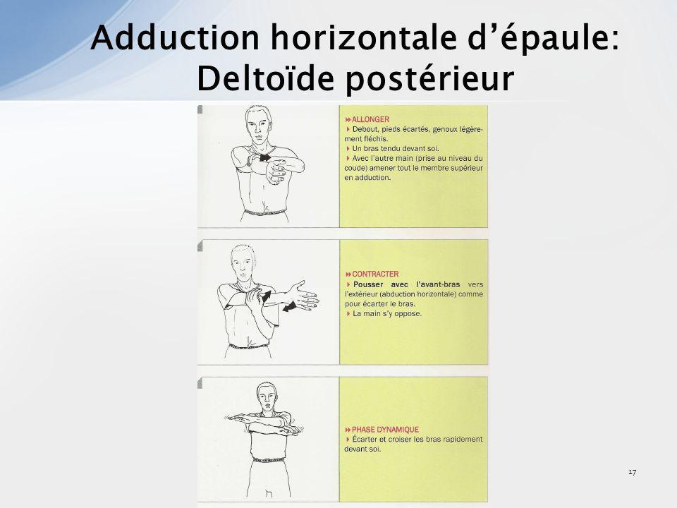 Adduction horizontale d'épaule: