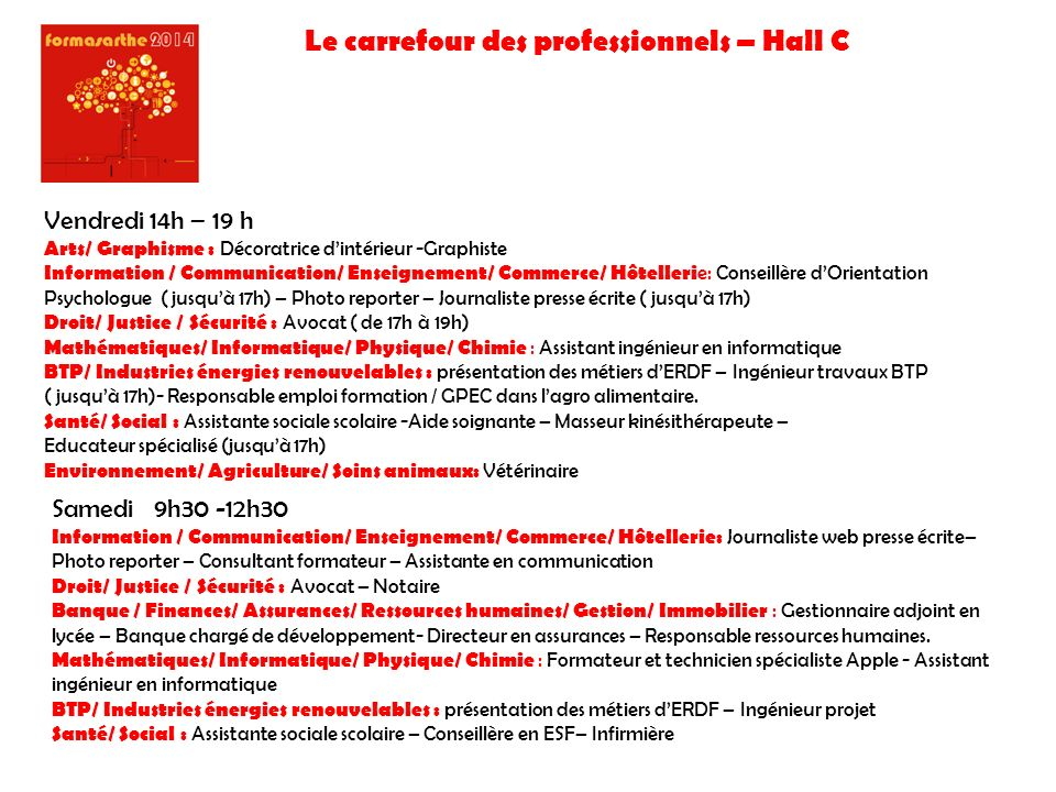 Le carrefour des professionnels – Hall C