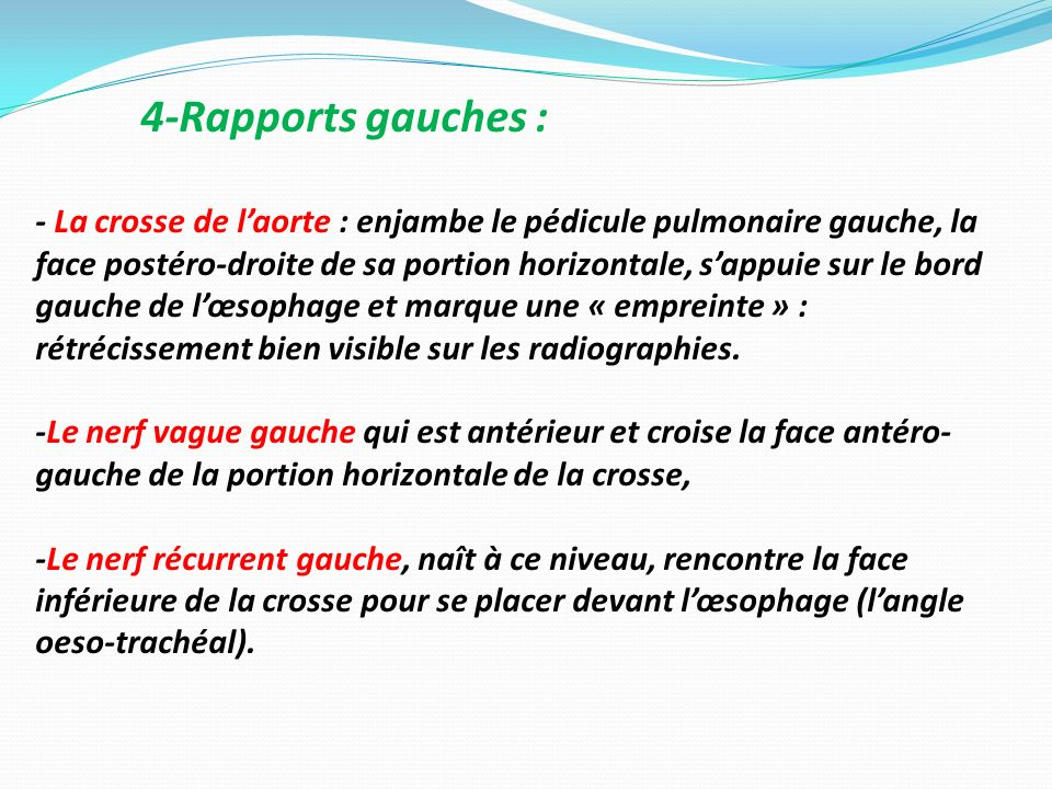 4-Rapports gauches :