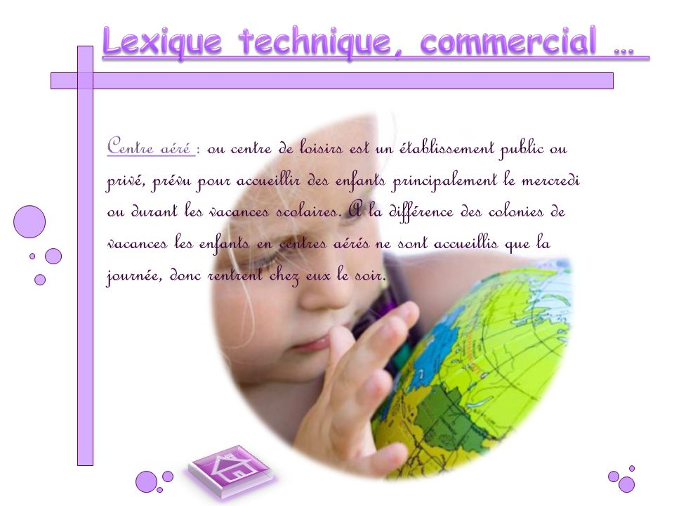 Lexique technique, commercial …