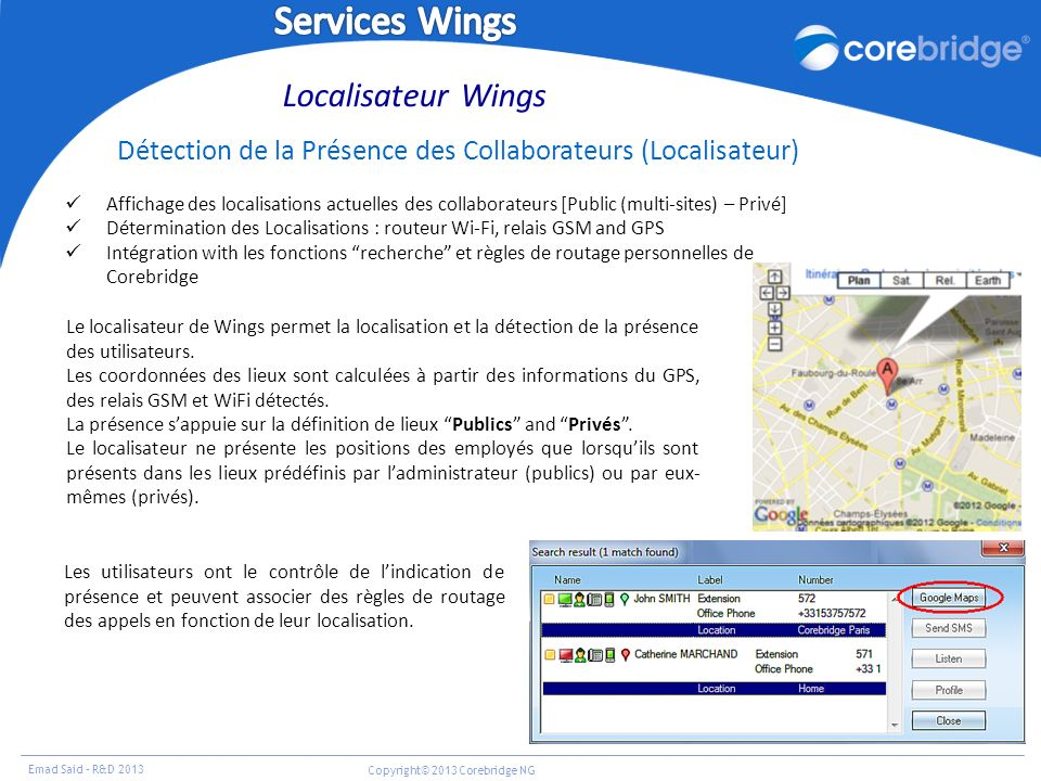 Services Wings Localisateur Wings