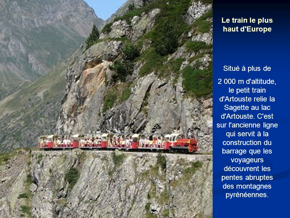 Le train le plus haut d Europe