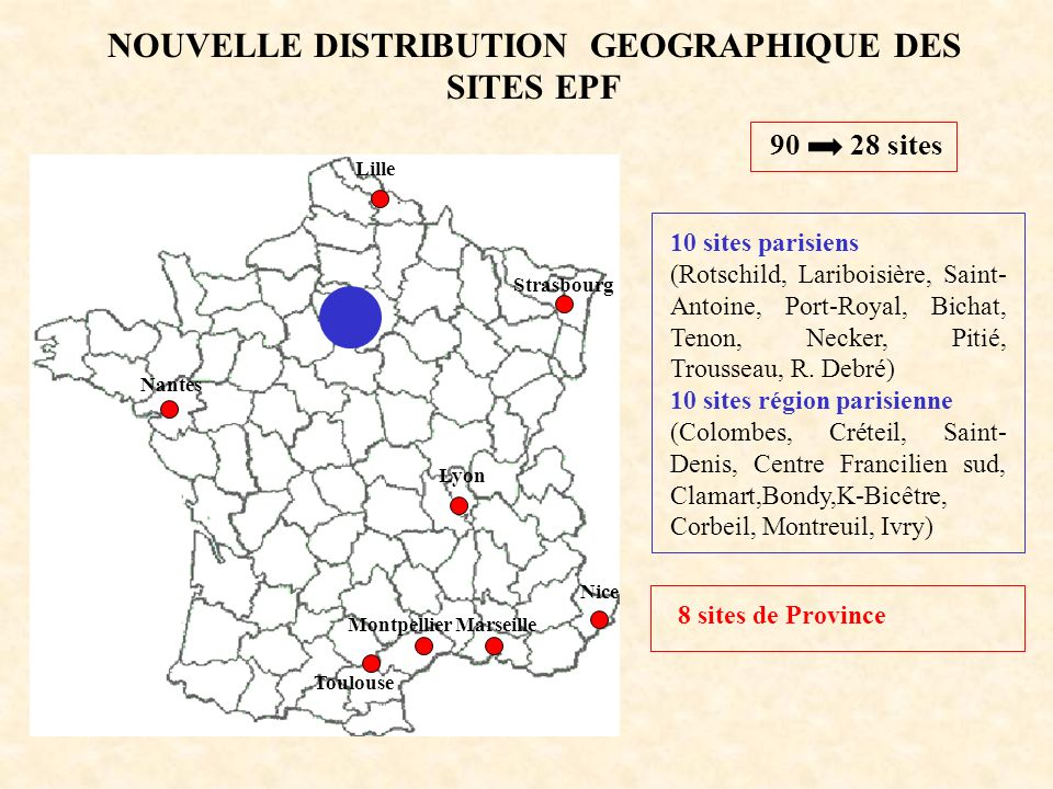 NOUVELLE DISTRIBUTION GEOGRAPHIQUE DES SITES EPF
