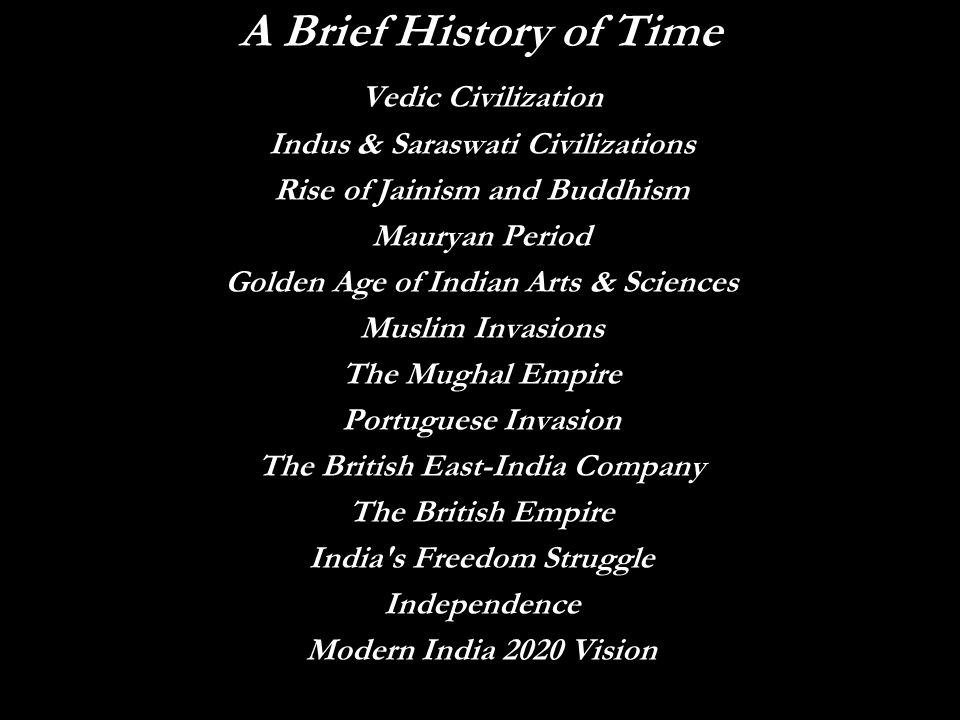 A Brief History of Time Vedic Civilization