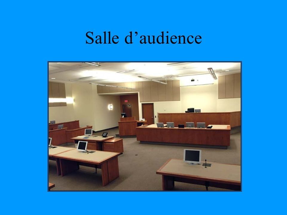 Salle d'audience