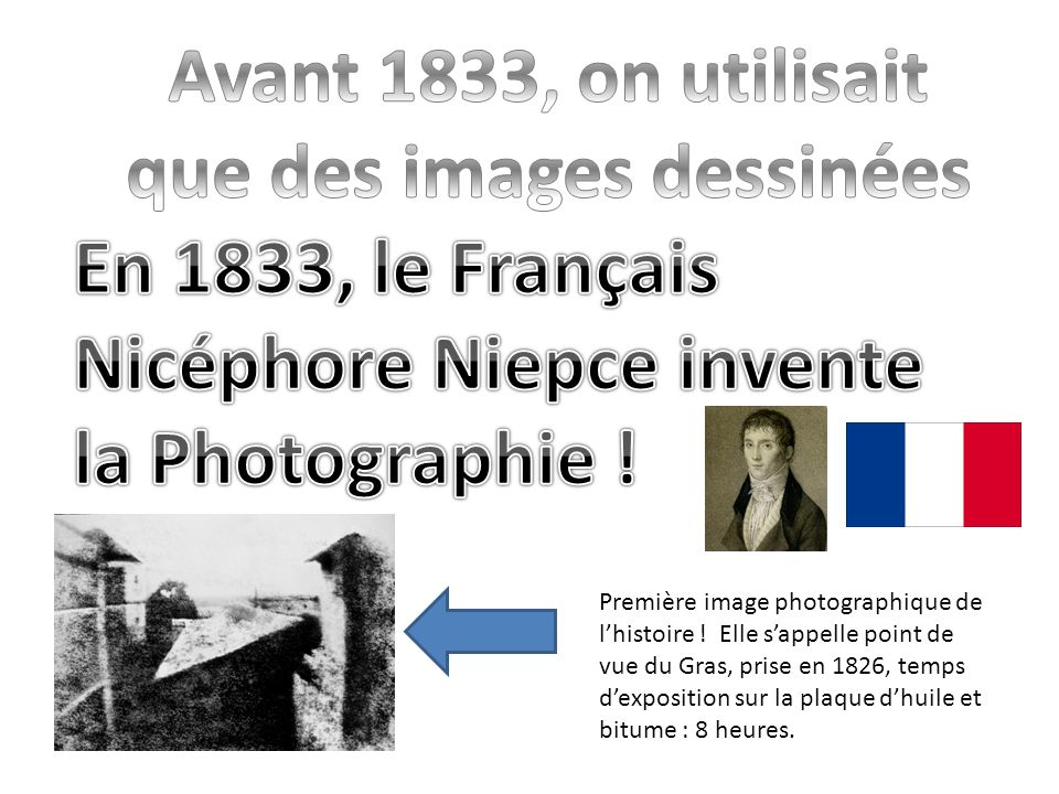 Avant 1833, on utilisait que des images dessinées