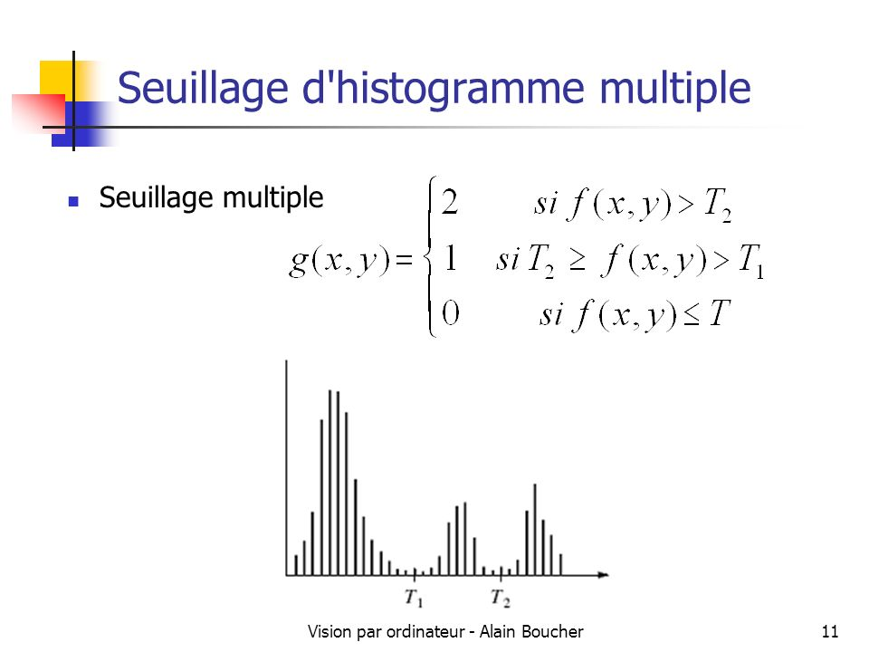 Seuillage d histogramme multiple