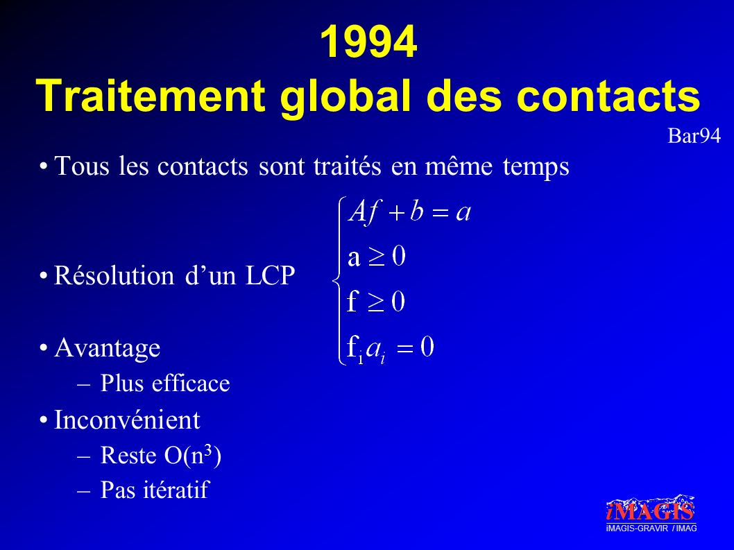 1994 Traitement global des contacts