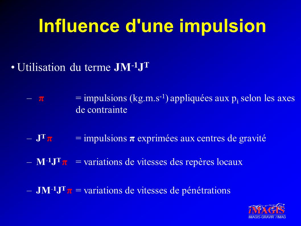 Influence d une impulsion