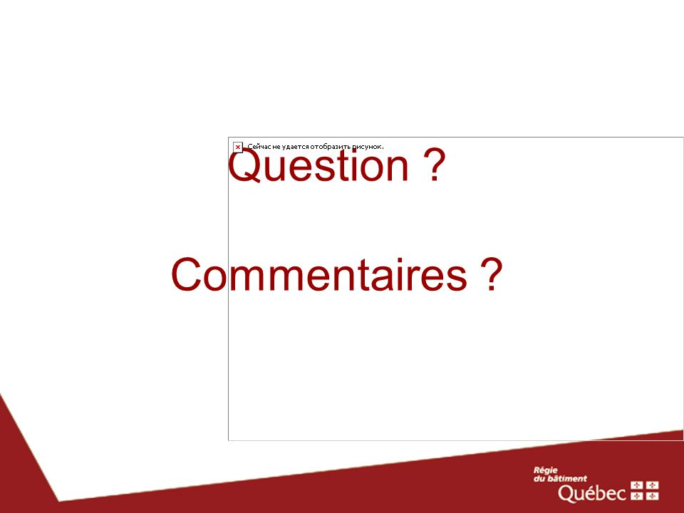 Question Commentaires