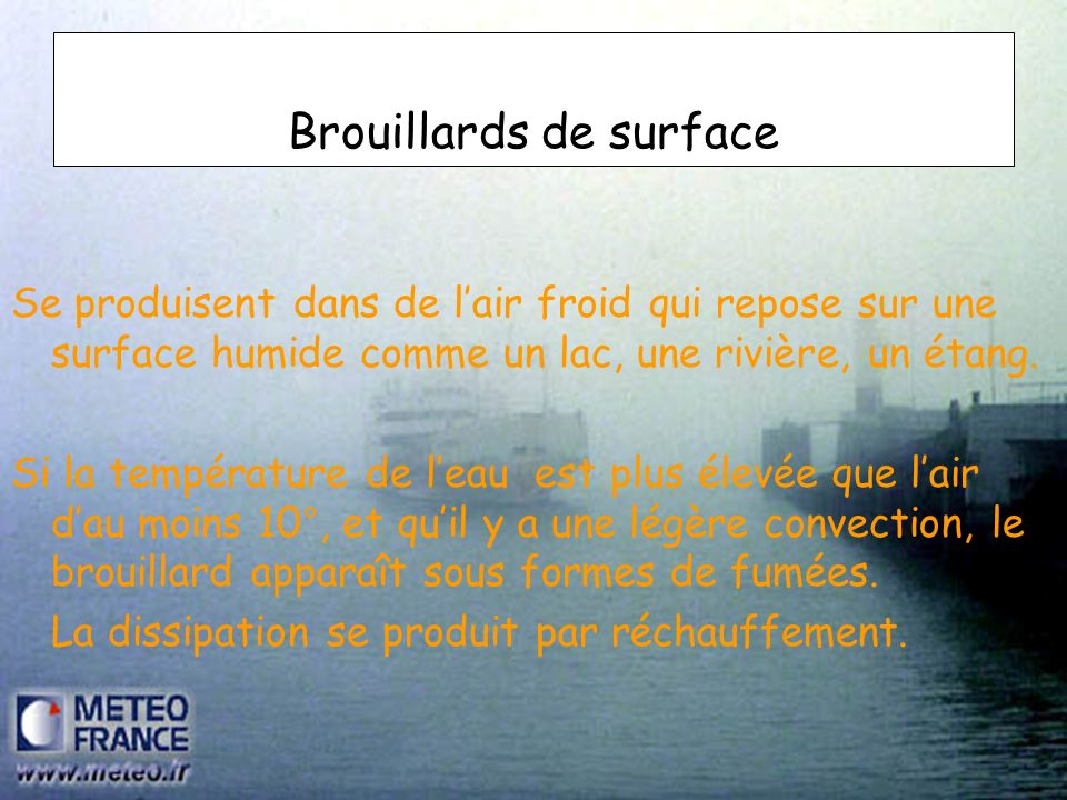 Brouillards de surface