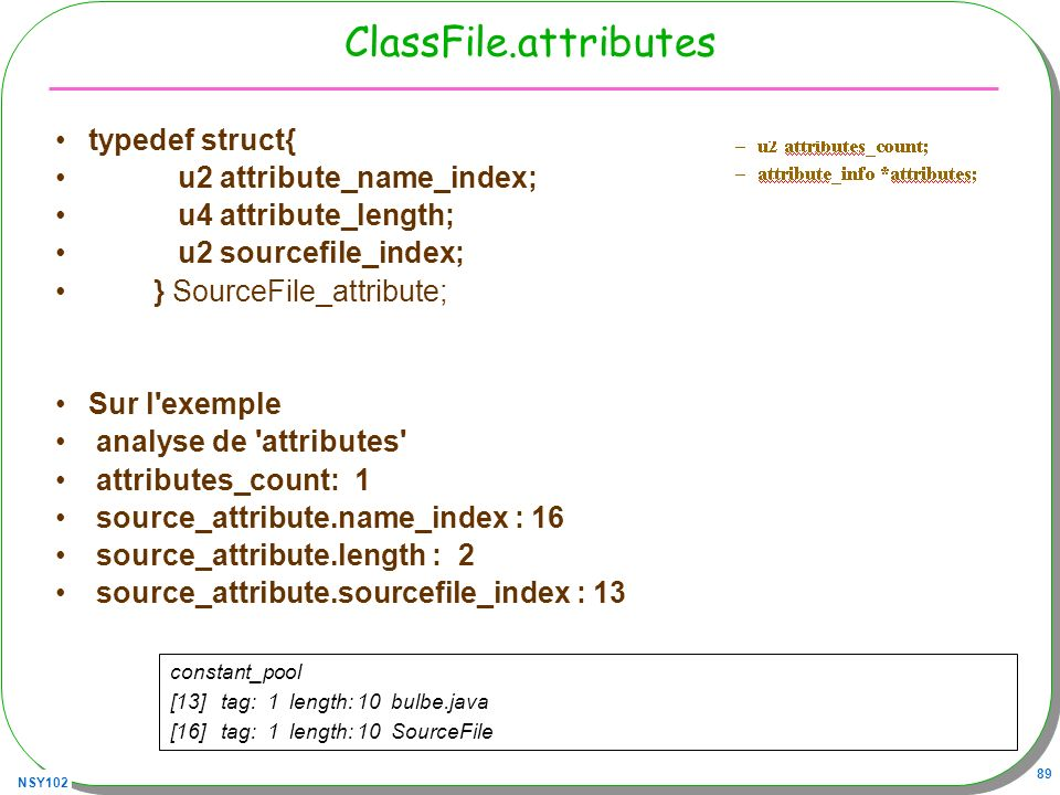 ClassFile.attributes typedef struct{ u2 attribute_name_index;