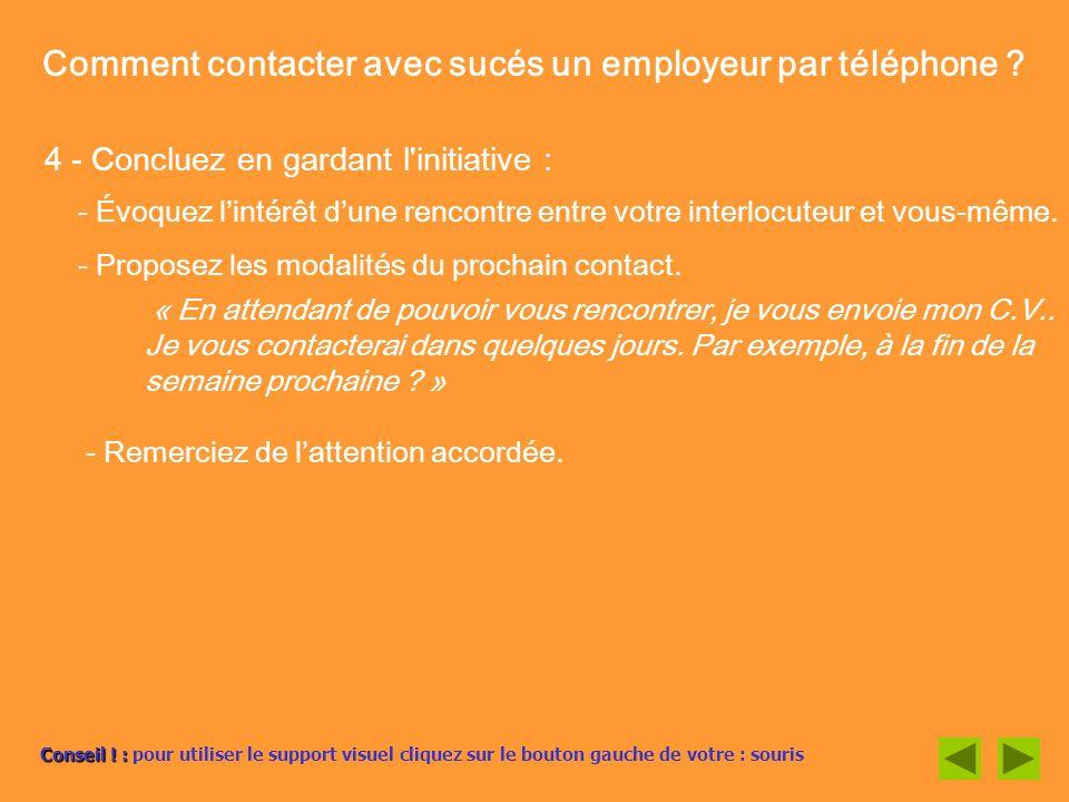Comment Contacter Une Entreprise Un Employeur Par Telephone Ppt