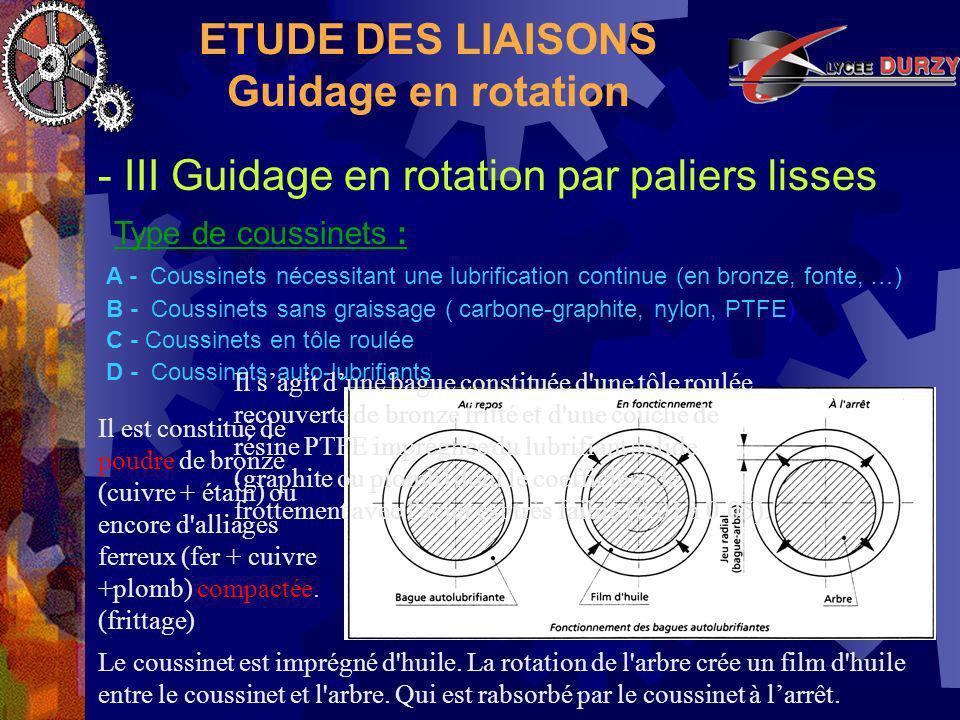 ca8af70e80785 ETUDE DES LIAISONS Le guidage en rotation. - ppt video online ...