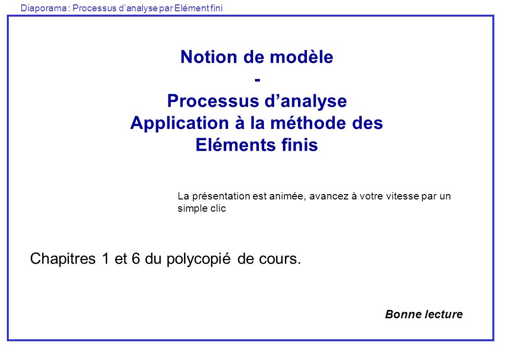 Application à la méthode des