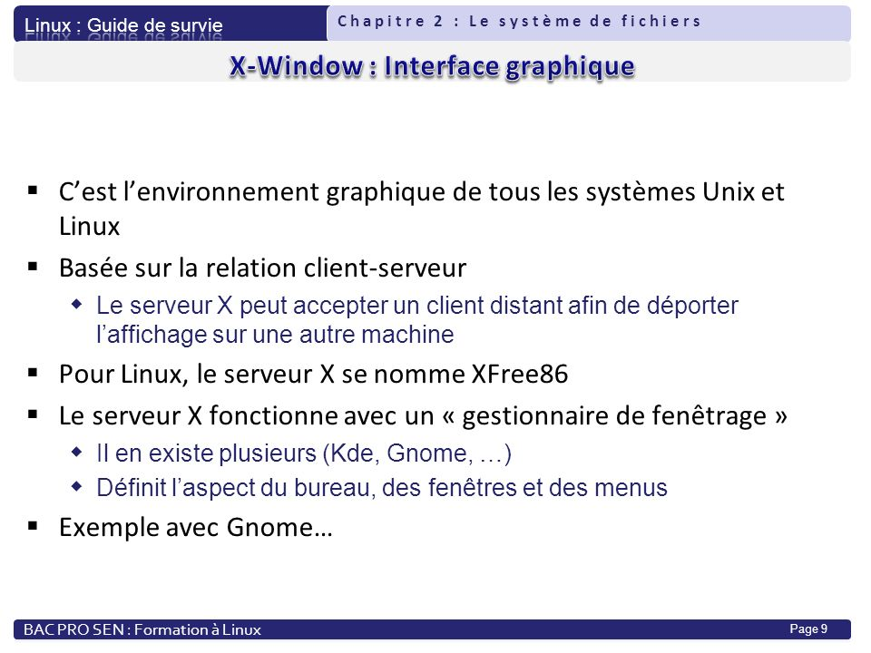 X-Window : Interface graphique