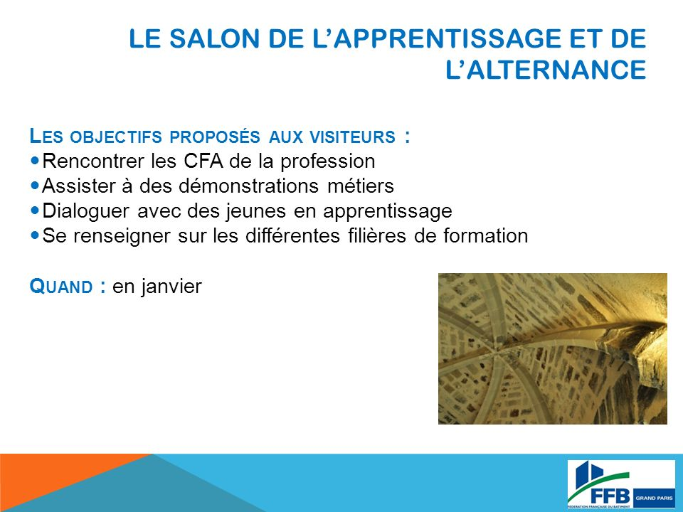 LE SALON DE L'APPRENTISSAGE ET DE L'ALTERNANCE