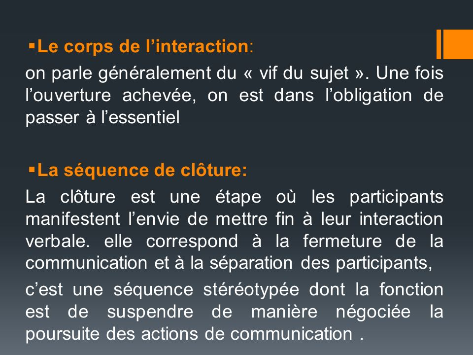 Le corps de l'interaction: