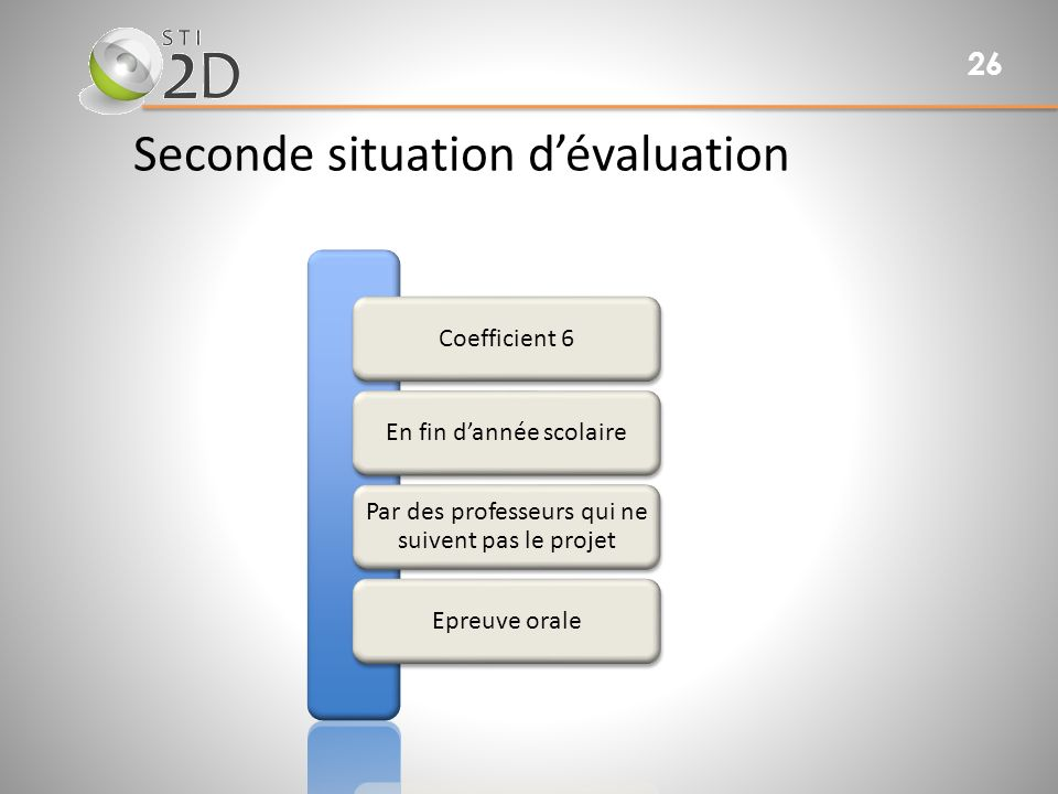 Seconde situation d'évaluation