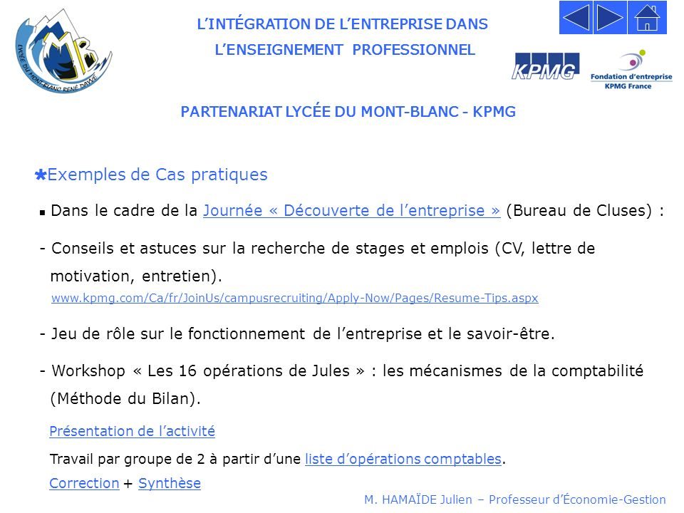 partenariat lyc u00c9e du mont-blanc - kpmg