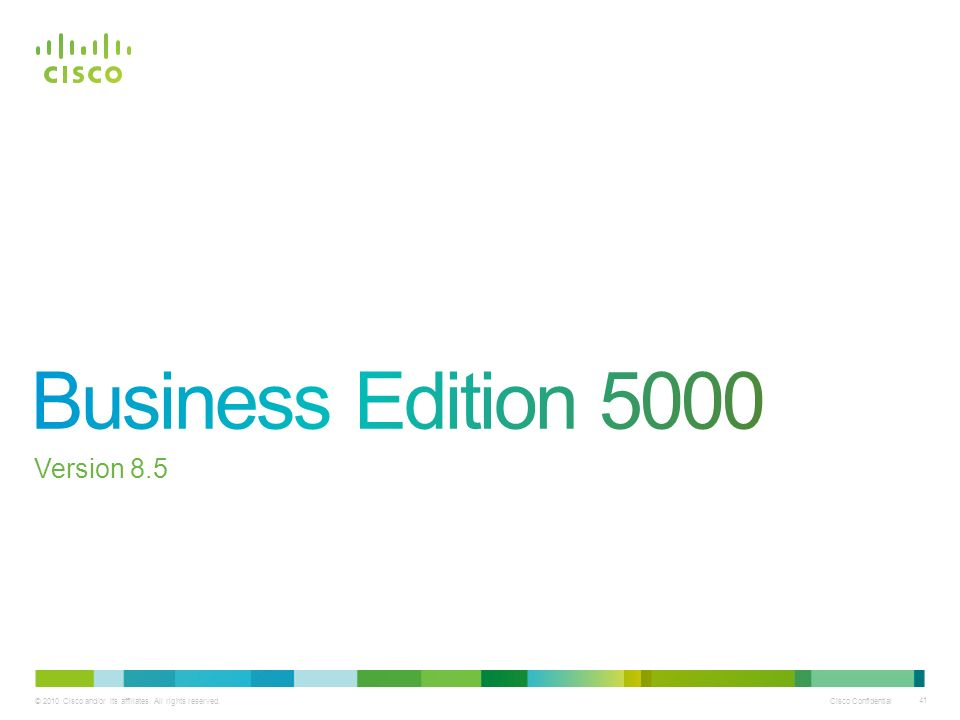 Business Edition 5000 Version 8.5