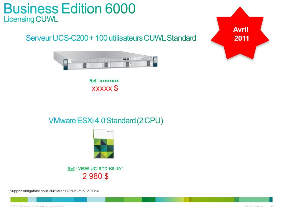 Business Edition 6000 Licensing CUWL