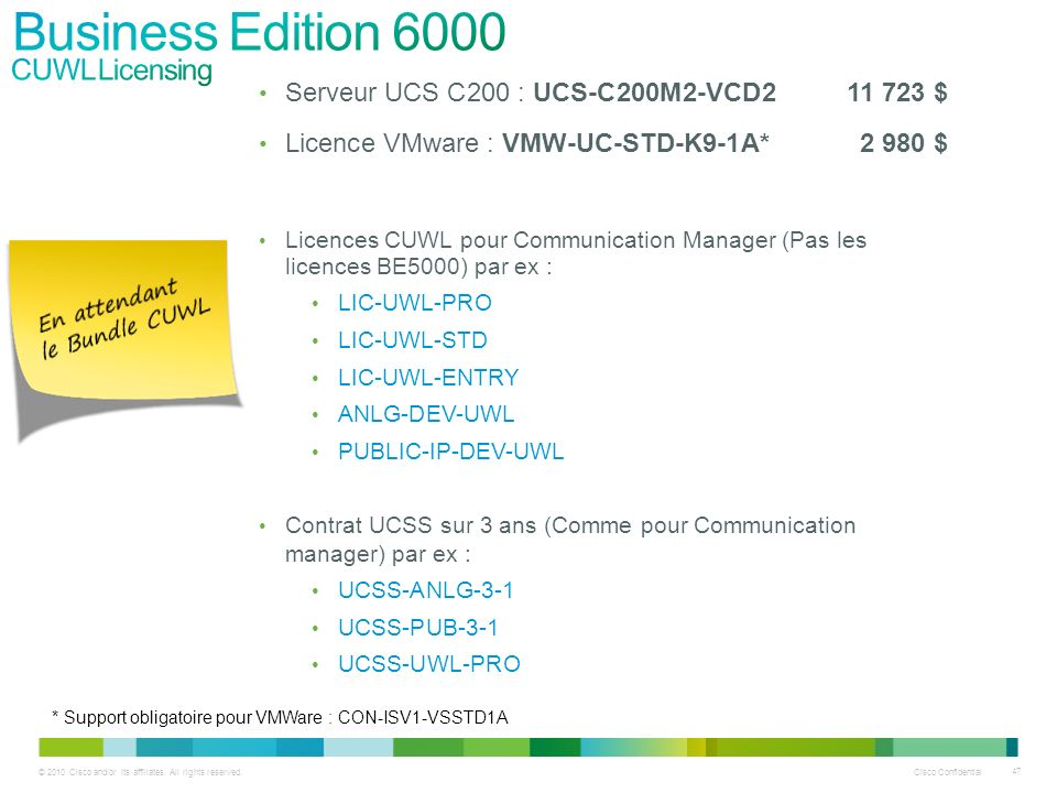 Business Edition 6000 CUWL Licensing