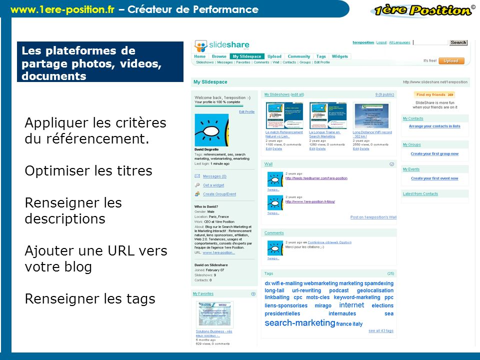 Les plateformes de partage photos, videos, documents