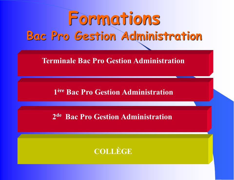 Formations Bac Pro Gestion Administration