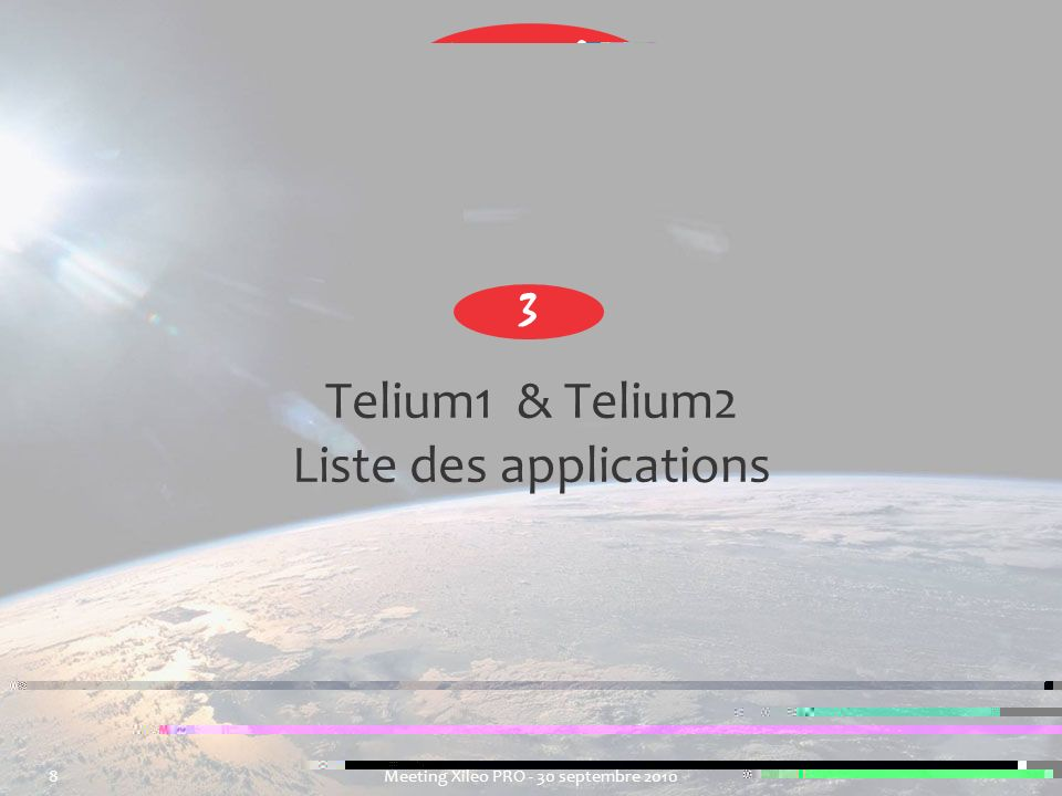 Telium1 & Telium2 Liste des applications