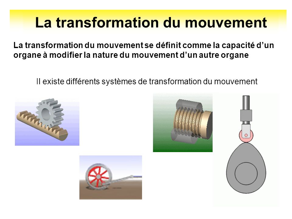 La transformation du mouvement