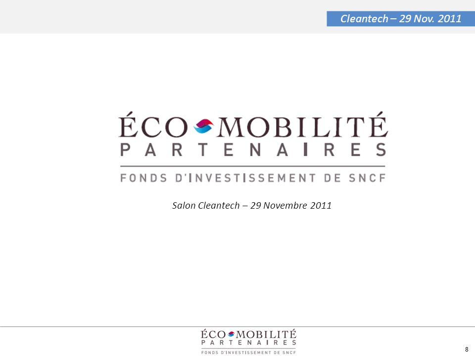 Salon Cleantech – 29 Novembre 2011