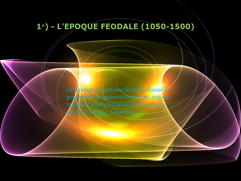 1°) - L EPOQUE FEODALE ( )